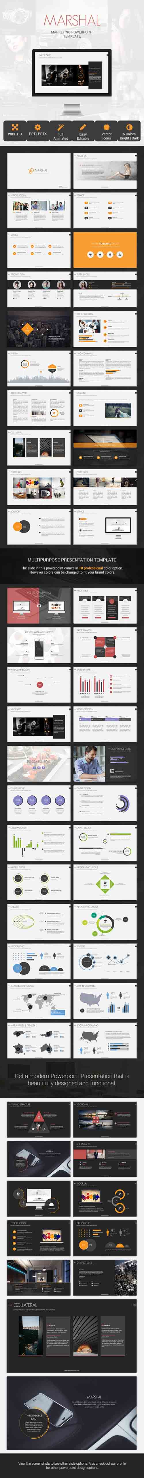 Marshal Marketing Presentation Template 8008052