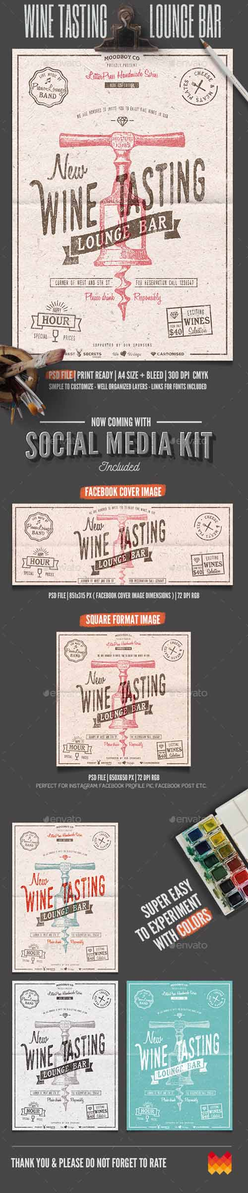 wine tasting lounge flyer poster 11985596 downgfx net download gfx. Black Bedroom Furniture Sets. Home Design Ideas