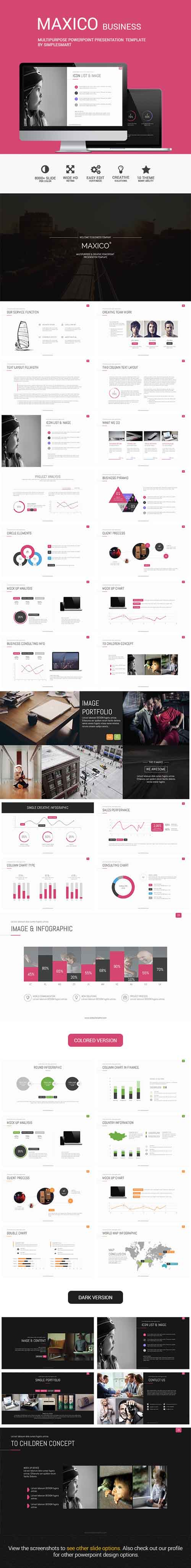 MAXICO - Multipurpose Presentation Template 8952716