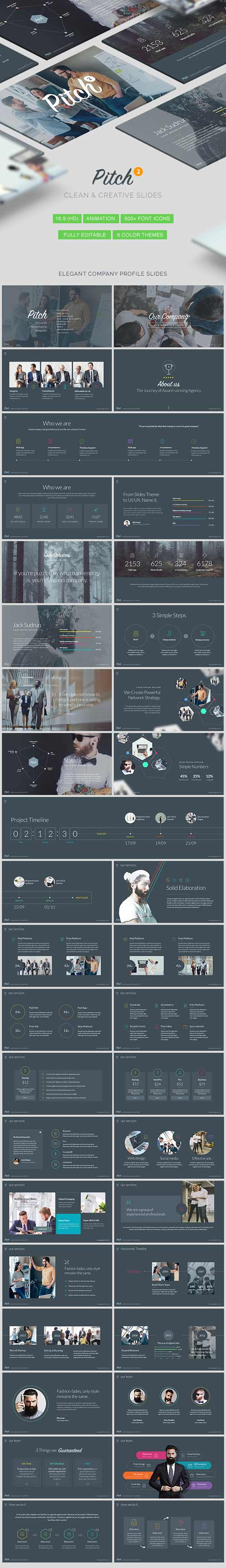 Pitch 2 - Clean & Modern Keynote Template 16072556