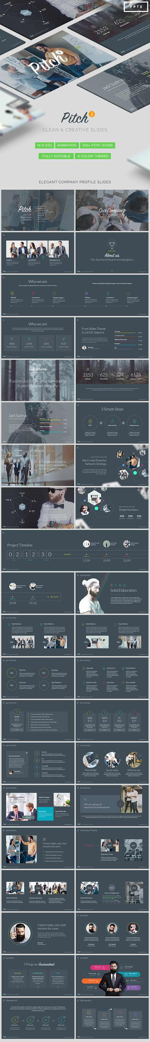 Pitch Vol.2 - Modern Powerpoint Template 17735366