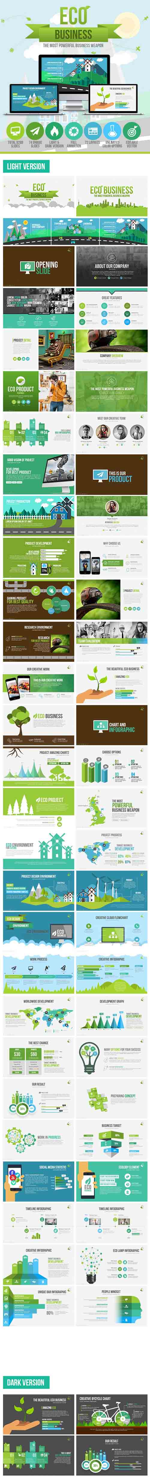 Eco Business Presentation Template 10527727