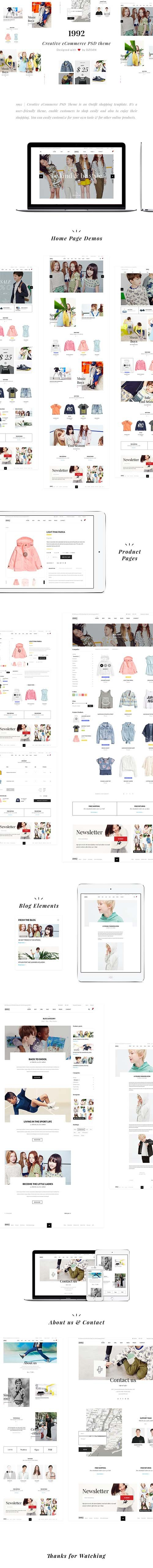 1992 - Creative e-Commerce PSD Template