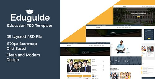 ThemeForest - Eduguide v1.0 - Education PSD Template - 18576448