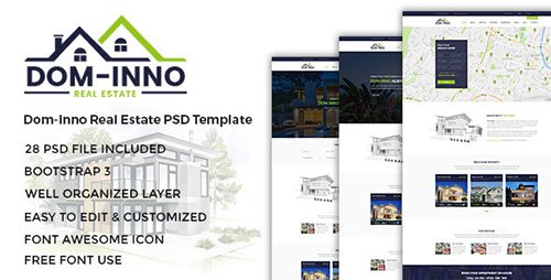 ThemeForest - Dom-Inno v1.0 - Real Estate PSD Template - 18453396
