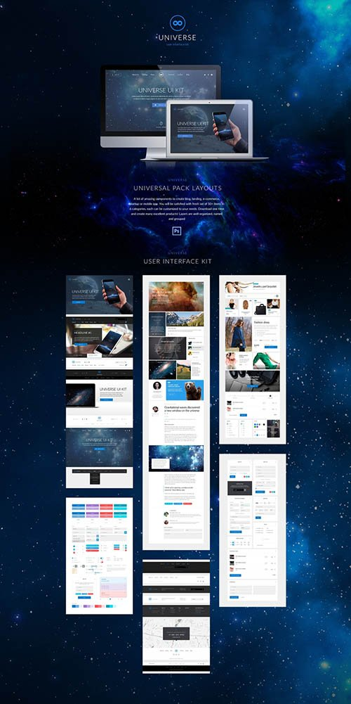 Universe UI Kit - Universal modern UI Kit to upgrade your website