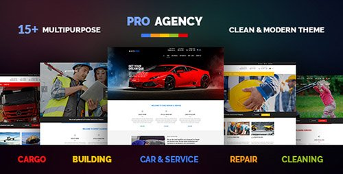ThemeForest - Pro Agency v1.3.3 - Multipurpose Building & Construction, Car Repair & Logistics, Cleaning & Garden Theme - 11882965