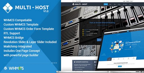ThemeForest - Multi Hosting v1.5.7 - WHMCS Hosting WordPress Theme - 11571734
