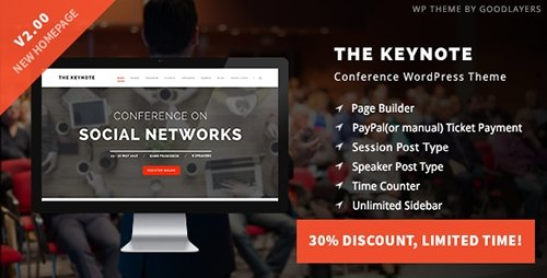 ThemeForest - The Keynote v2.00 - Conference / Event / Meeting WordPress Theme - 9718856