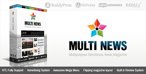ThemeForest - Multinews v2.5.5.2 - Multi-purpose WordPress News,Magazine - 8103494