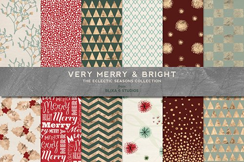 Textures - Merry Christmas Golden Holiday Set