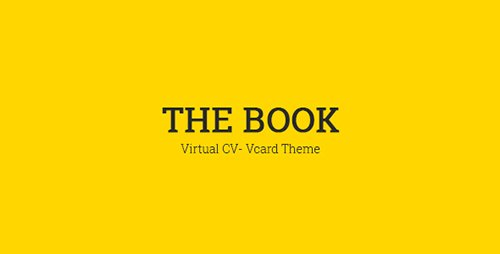 ThemeForest - The Book v1.0 - Personal vCard Template - 16692133