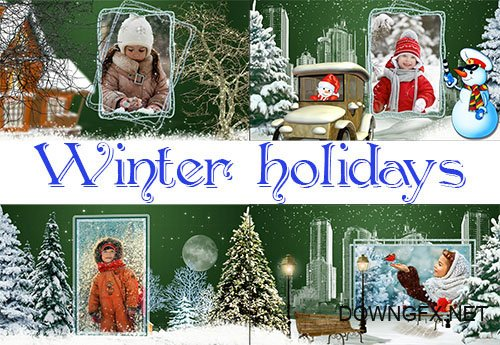 Winter holidays - project ProShow Producer