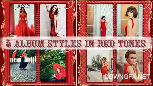In red tones - styles for ProShow Producer