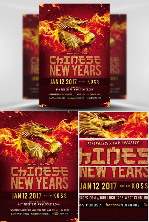 Flyer Template - Chinese New Year 2017