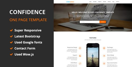 CodeGrape - Confidence - OnePage HTML5 Template - 7013