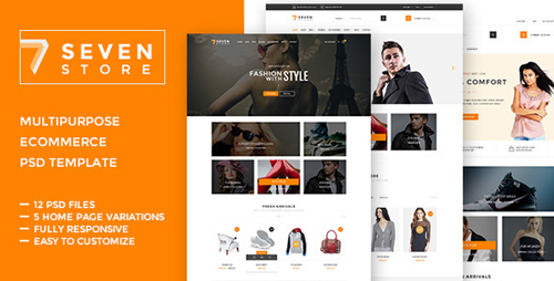 Seven Store - Ecommerce PSD Template 10483665