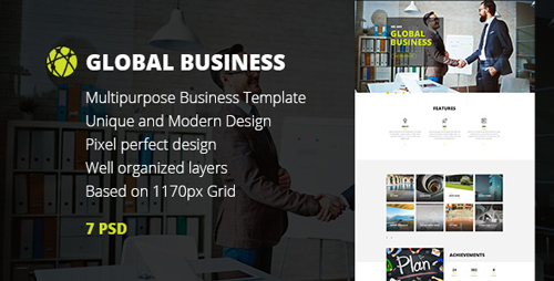 GB — Multipurpose Global Business/Freelance Portfolio PSD Template 15554242