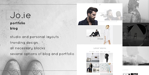 Jo.ie — Personal/Studio Multipurpose Portfolio and Blog PSD Theme 15832642