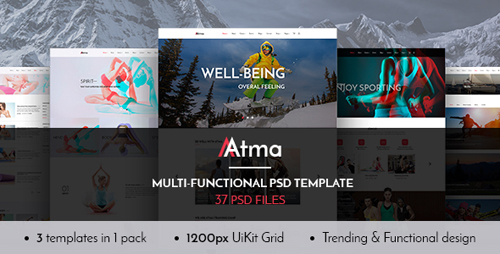 Atma — Multipurpose Wellness | Sport | Yoga PSD Template 16172240