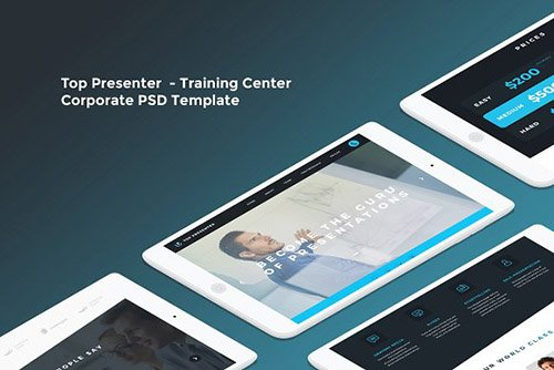 Top Presenter - Training Center PSD - CM 755937