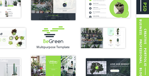 BeGreen - Multipurpose Planter PSD Template 16681139