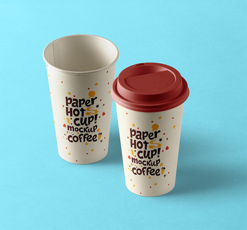 Paper Hot Cup Template Vol 9