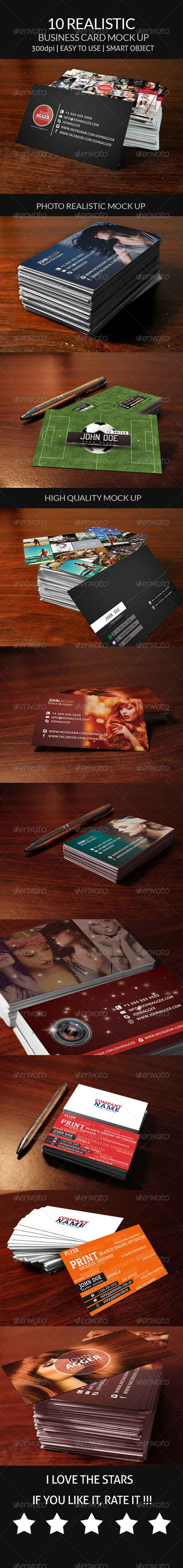 GR - 10 Realistic Business Card Mock Up 8043746