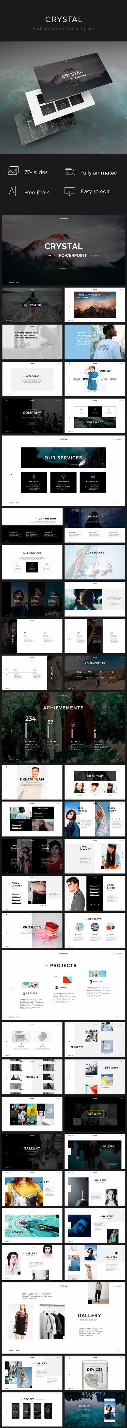 GR - Crystal PowerPoint Template 19158684