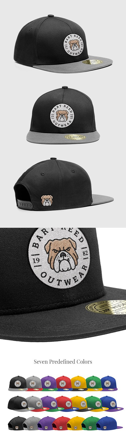 PSD Mock-Up - Snapback Cap