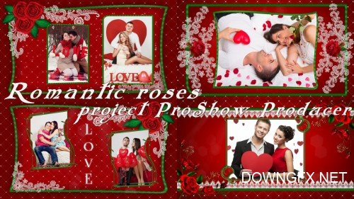 Romantic roses - project ProShow Producer