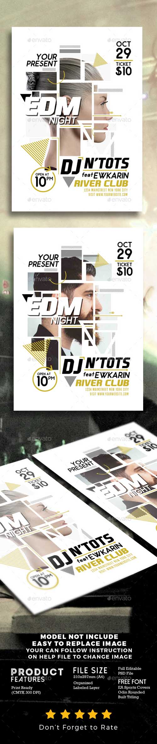 EDM Night Party Flyer 18423641
