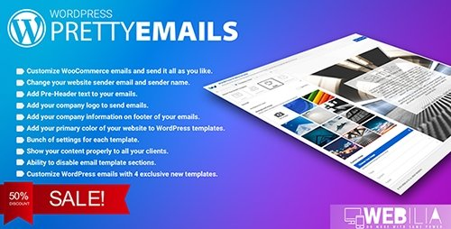CodeCanyon - WordPress Pretty HTML Emails v1.6.0 - Responsive Modern HTML Email Templates - 17887949