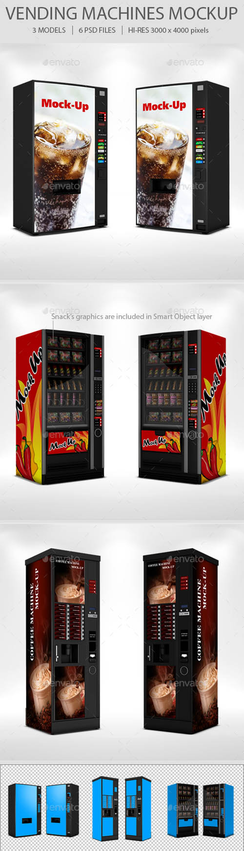 GR - Vending Machine Mockup Set 19037242