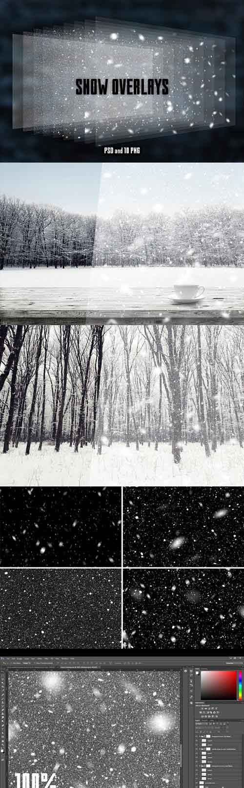 Real Snow Overlays for Your Photos 1093501