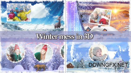 Winter mess 3D - project for ProShow Producer