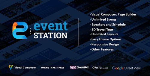 ThemeForest - Event Station v1.1.5 - Event & Conference WordPress Theme - 16019694