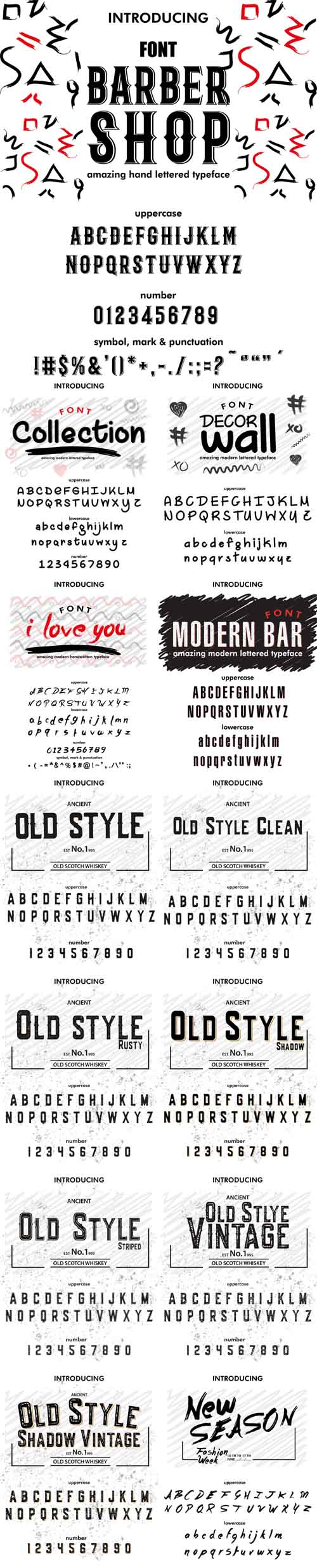 Vector Font.Typeface. Script. Old Style Vintage