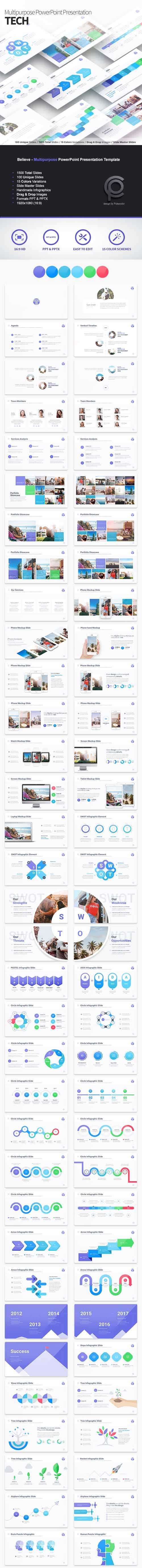 Tech - Multipurpose PowerPoint Presentation Template 19288687