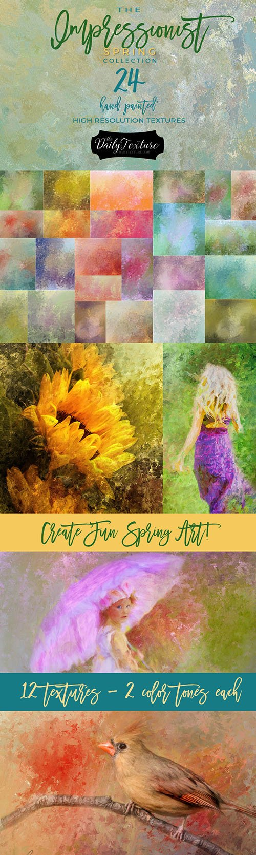 Impressionist Spring Texture Collection