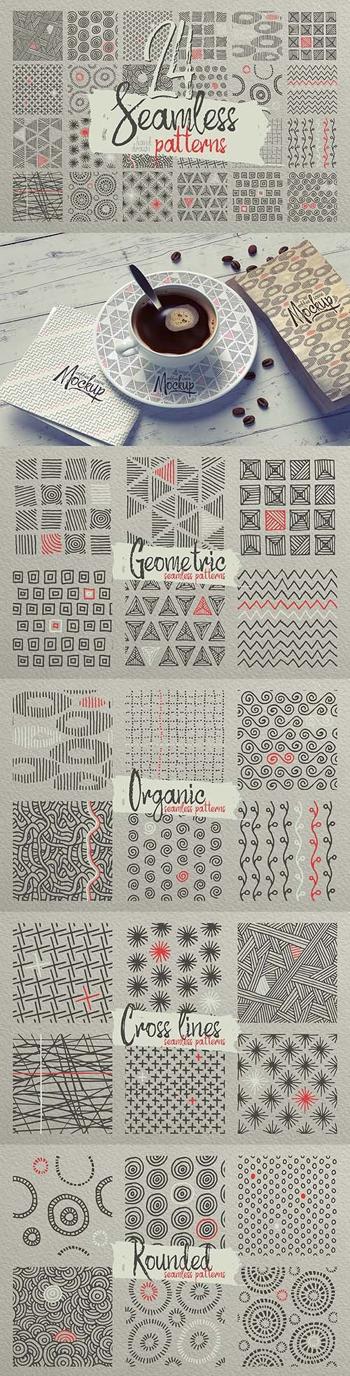 24 Hand Drawn Patterns