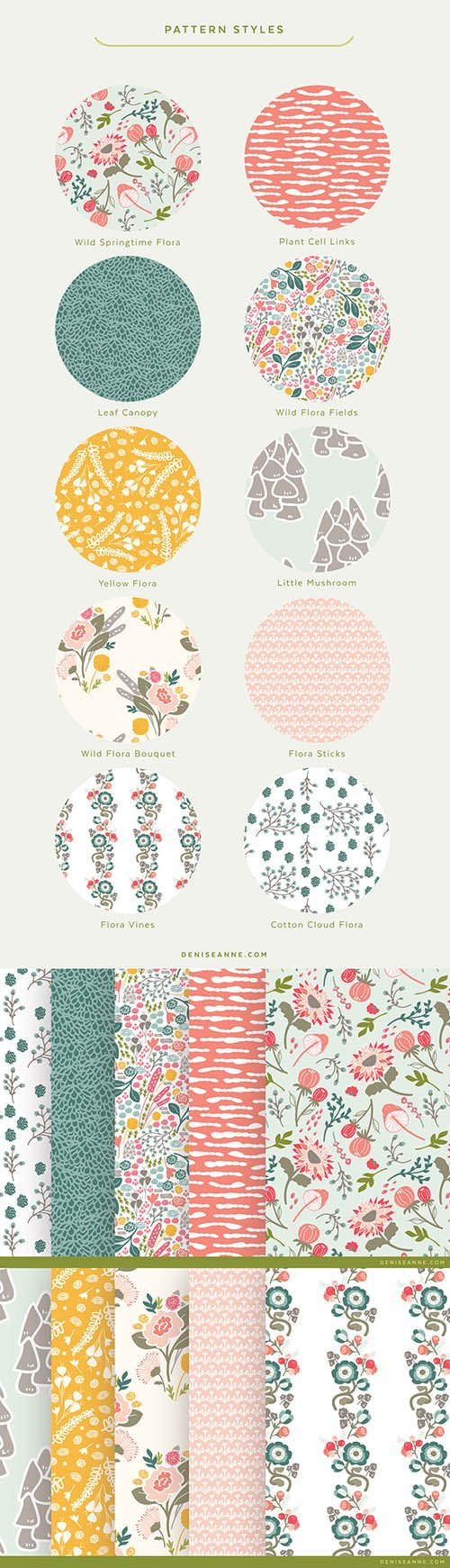 Wild Flora Collection Patterns