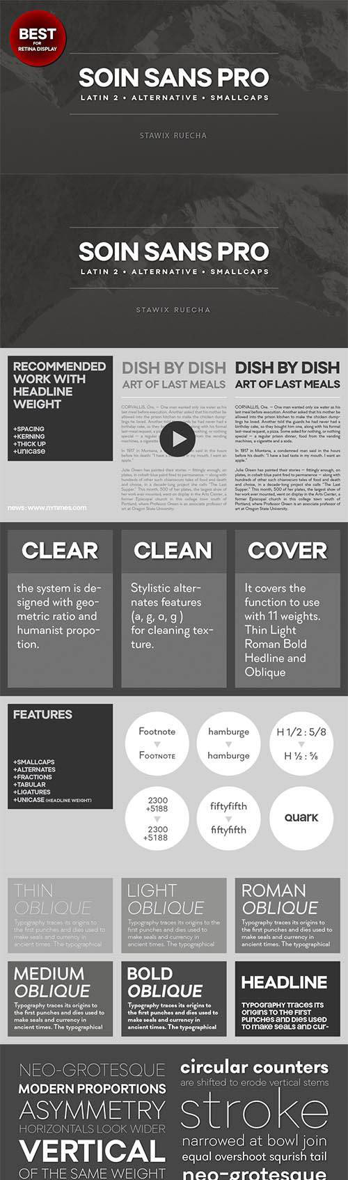 Soin Sans Font Family, Alternative SmallCaps