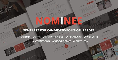 ThemeForest - Nominee v1.0 - Template for Candidate/Political Leader - 12052031