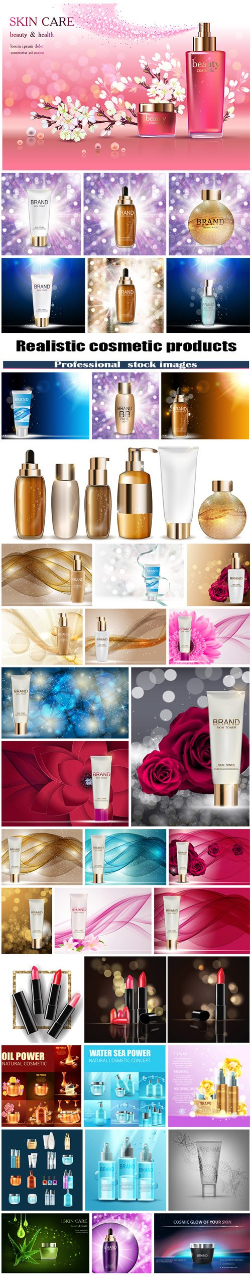Cosmetics products wallpaper 2017