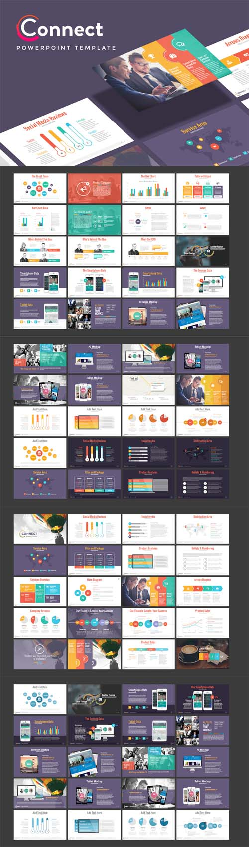 CONNECT - Marketing Powerpoint Template