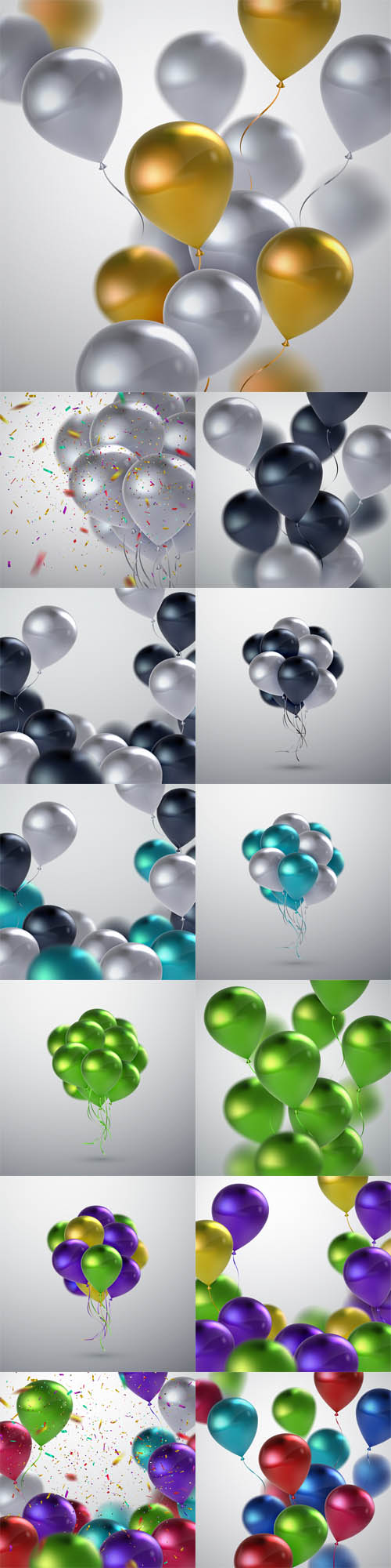 Vector Realistic Glossy Balloons