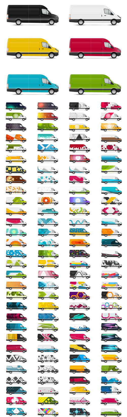 Vector Design Templates for Transport. Mockup White bus