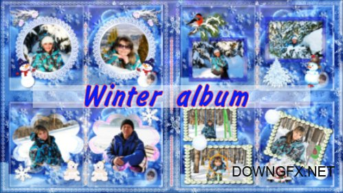 Winter album - project for ProShow Producer