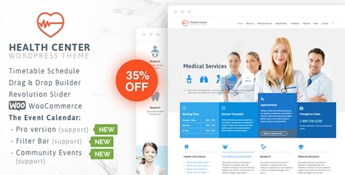 ThemeForest - Medical Health v16.4 - Theme for Medical Health and Dentist Center - 7322125
